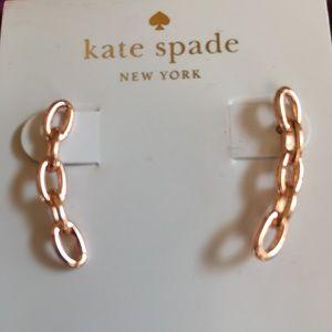 kate spade earrings Chainlink Ear-crawlers